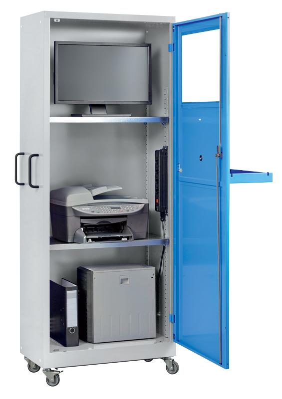 Vue intérieure armoire informatique 1er prix (mobile) H1900 x L750 x P400 mm