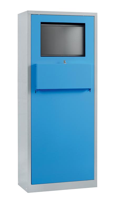 Armoire informatique 1er prix (fixe) H1900 x L750 x P400 mm avec fermeture clavier